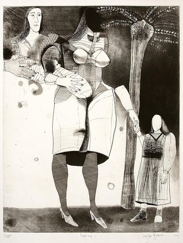 """""""Новатори от 80-те години на ХХ век"""" Стоян Цанев, Майка, 1983 г., литография"""