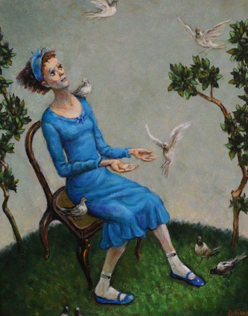 Димитър Борисов, Момиче и гълъби