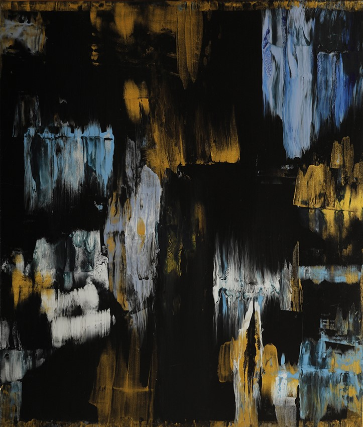 Дора Драгнева, Златни-сини емоции, акрил, платно