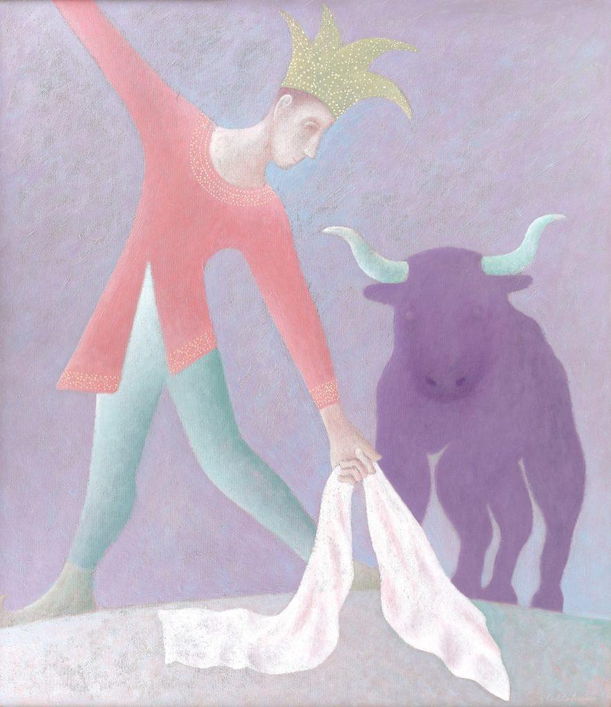 "Дорин Колтофеану, ""Тореадор"", 2020, маслени бои върху платно, 121 x 105 см"