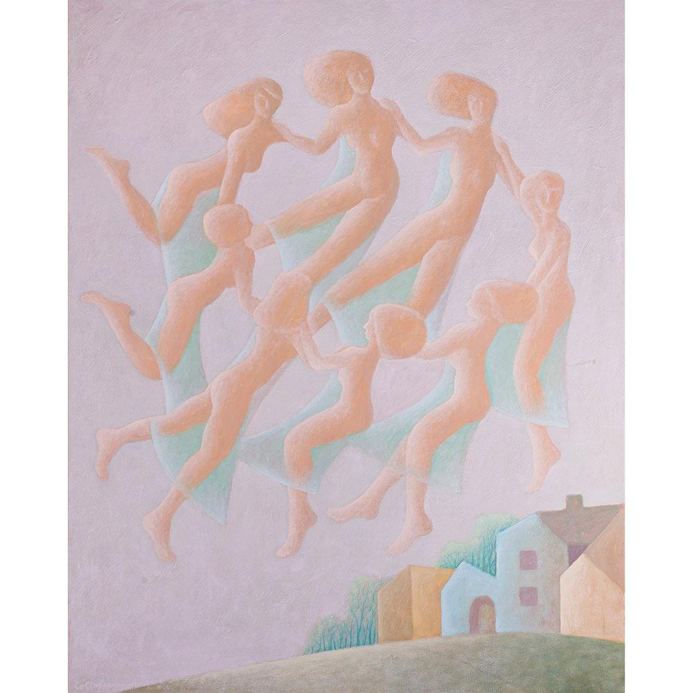 """Дорин Колтофеану, """"Танцът на феите"""", маслени бои върху платно, 100 х 80 см."""